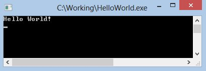 Lazarus Run-time window, with Hello World!