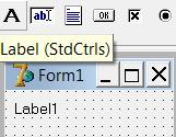 Label icon, tooltip and form