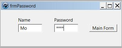 Data entered in password form