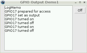 GPIO Output Demonstration 1 in Action