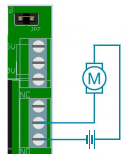 Controlling a motor with a relay