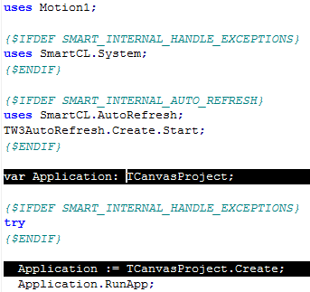 Errors in Application Unit