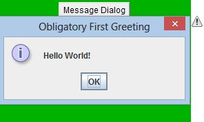 Information message dialog