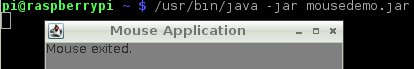 Java application (from applet) running on the Pi