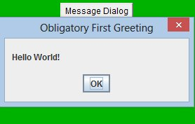Message dialog applet (280 x 180) in action